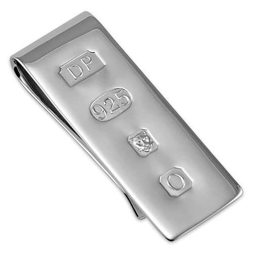 Sterling silver James Bond money clip
