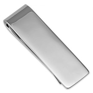 Silver plated plain money clip