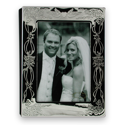 Silver plated wedding photo album – 5.5″ x 3.5″