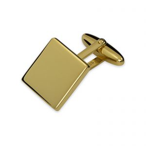 Gold Plated Plain Square Cufflinks