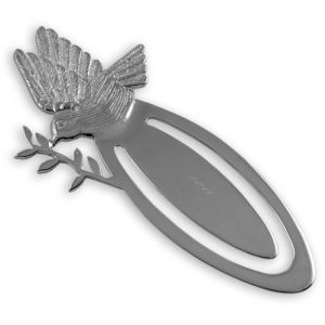 Sterling silver dove of peace bookmark