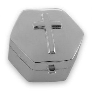 Sterling silver cross keepsake box