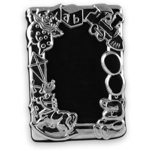 Sterling silver child's toys photo frame – 3″ x 2″