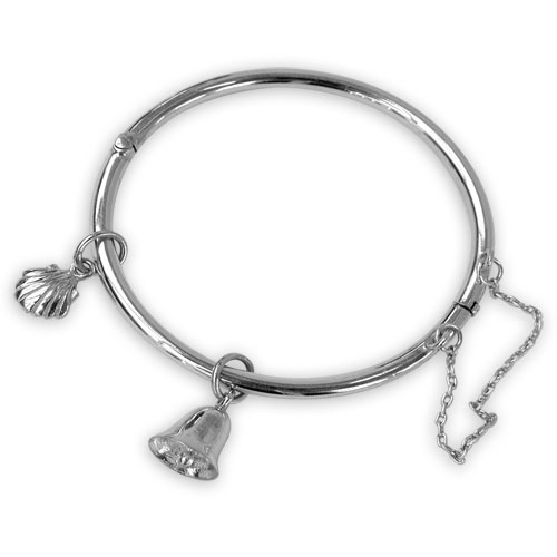 Silver bells & cockle shells bangle