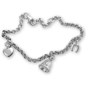 Sterling silver bridesmaid charm bracelet