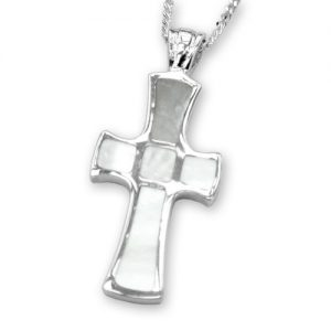 Sterling silver mother of pearl cross