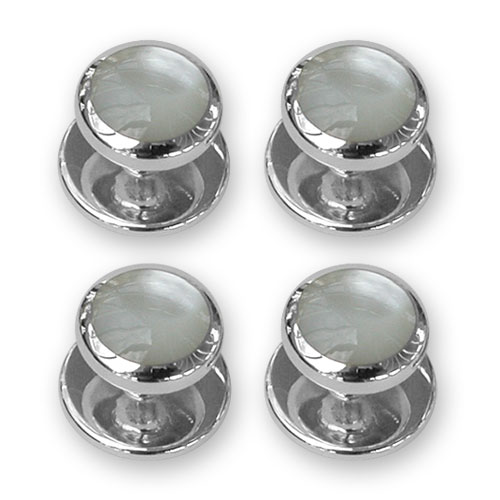 Sterling silver mother of pearl shirt studs
