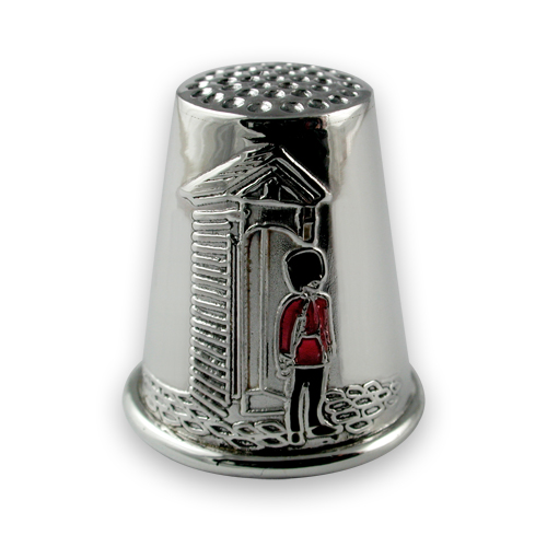 Sterling silver guardsman thimble