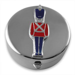 Sterling silver toy soldier keepsake box