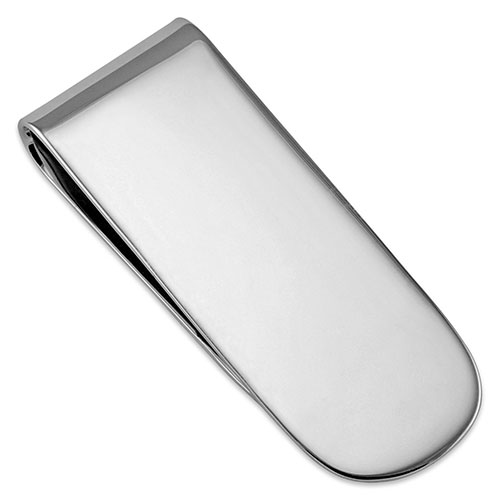 Sterling Silver Moneyclip Plain  3/4