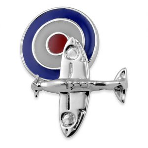 Sterling Silver Spitfire Plane with RAF Roundel Cufflinks