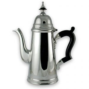 Silver Plated Georgian Style Straight Coffee Pot (4 cups)