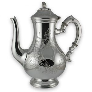 Silver plated Melon coffee pot