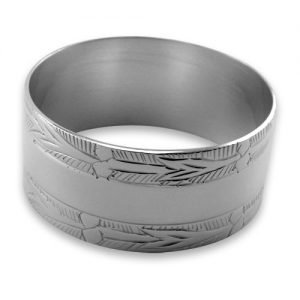 Sterling Silver Plated Engraved Napkin Ring