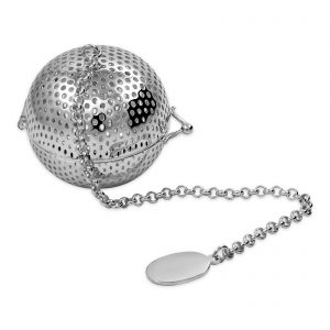 Silver Plated Ball Shape Tea Infuser with chain