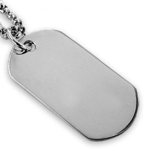 Sterling silver oval dog tag – 3cm